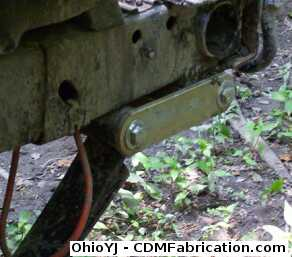 Rear Leaf Spring Shackle Inversion Tilted All The Way