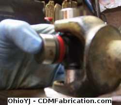 A bit of oil will help installation